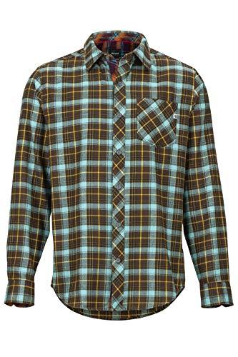 Marmot Anderson Lightweight Flannel Chemise d'extérieur à Manches Longues, Chemise de randonnée, avec Protection Anti-UV, Respirante Homme Brun FR: S (Taille Fabricant: S)