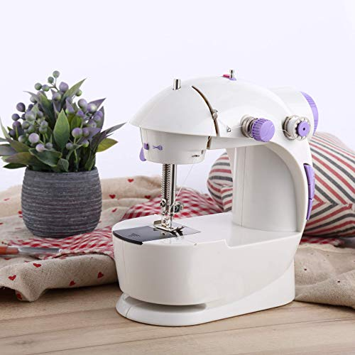 Varmax Mini Sewing Machine with Extension Table (Purple)