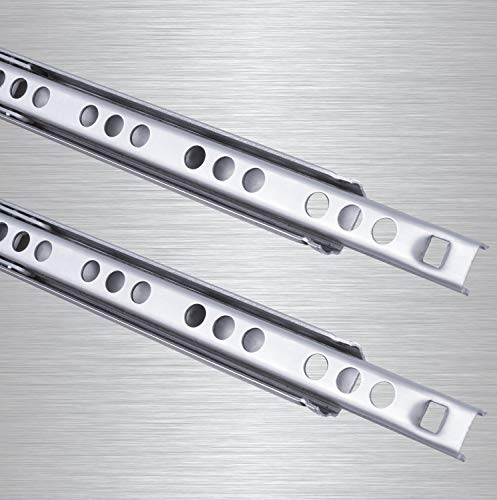 Schubladenschienen 2 STÜCK Teilauszug Rollenauszug Kugelführung H: 17 / L: 310 mm