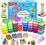 CiaraQ Air Dry Clay, Super Valuable 50 Colors Modeling Clay for Kids, Molding Magic Clay for Slime add ins &...