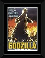 Godzilla - Polish Text Framed Mini Poster - 14.7x10.2cm