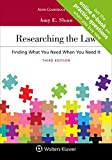 Researching the Law: Finding What You Need When You Need It [Connected Casebook] (Aspen Coursebook)
