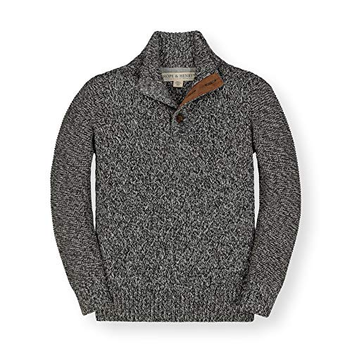 Hope & Henry Boys' Long Sleeve Mock Neck Sweater