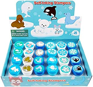 TINYMILLS 24 Pcs Arctic Animals Stampers for Kids