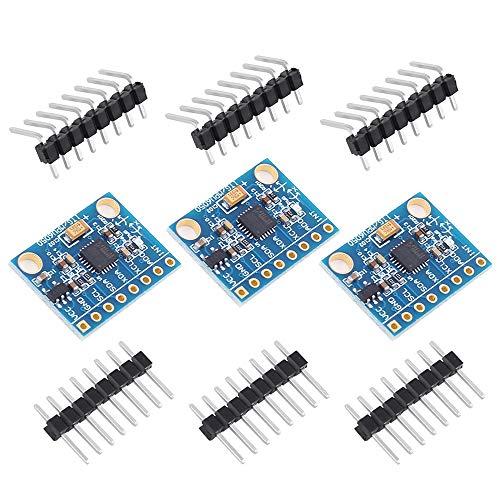 PEMENOL 3 STK. MPU-6050 Modul 3-Achsen-Gyroskop + 3-Achsen-Beschleunigungssensor Accelerometer Neigungssensor, I2C für Arduino, Genuino, Raspberry Pi (3 Stück)