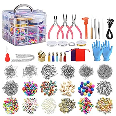Amazon - 70% Off on Jewelry Making Kits 2456 Pcs Jewelry Making Supplies Includes Beads, Necklace…
