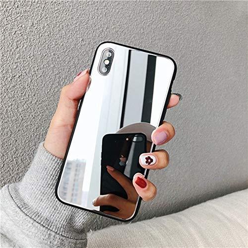 AAA&LIU Funda de Espejo de Maquillaje de TPU para iPhone 11 12 Pro XS MAX XR X Funda Protectora de teléfono móvil para iPhone 8 7 6 6S Plus Fundas Funda Coque, A, para iPhone 12Pro MAX