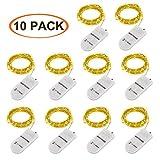 LED Lichterkette Batterie, 10 Stück 2M 20 Micro LEDs Lichterkette mit CR2032 Batterie Betrieb IP65...