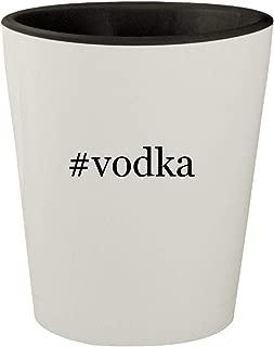 #vodka - White Outer & Black Inner Hashtag Ceramic 1.5oz Shot Glass