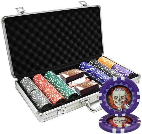 MRC 300pcs Skull Challenge the lowest price Fashionable Poker Chips Set Custom Case with Aluminum Build
