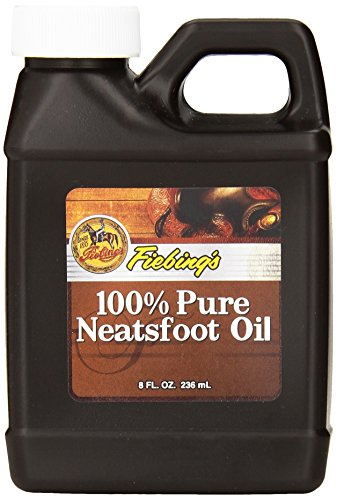 Fiebing's 100% Pure Neatsfoot Oil - Natural Leather Preservative - Great for Boots, Baseball Gloves, Saddles and More - 8 oz