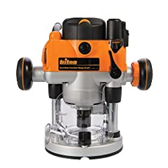 Single button switches from conventional plunge to fixed-base router with rack and pinion mode Through base, single wrench bit change is achieved with automatic spindle lock Micro winder enables continuous fine depth adjustment through the full plung...