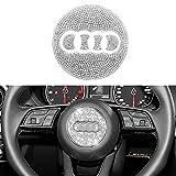 Senauto Bling Steering Wheel Cover Trim Sticker Compatible with Audi A3 A4 Allroad A5 A6 A7 A8 Q3 Q5 Q7 Q8 R8 TT (A)