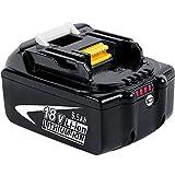 DOSCTT BL1850B 18V 5.0Ah Batterie de Remplacement pour Makita BL1850 BL1860B BL1860 BL1840 BL1845 BL1835 BL1830 BL1815 LXT-400 avec indicateur