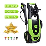 WATTY Electric Pressure Washer with 4000 PSI 3.0 GPM, High Pressure Machine with...