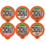 Double Donut Coffee Decaf Variety Pack, Decaf Flavored Coffee For Keurig K Cup Brewers, 72 Count