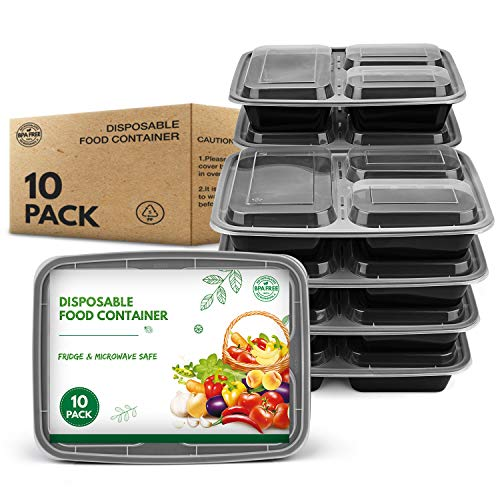 GUANFU 3 Fach Meal Prep Boxen, 10er Pack...