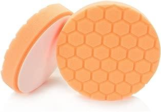 Chemical Guys BUFX_102_HEX5 Hex-Logic Medium-Heavy Cutting Pad, Orange (5 Inch)