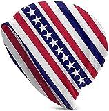JJsister Wintermtze,Strickmtze,Beanie Mtze American Patriotic Stars and Stripe Beanie Hat Hipster Warm Hat Stretch Casual Headwear