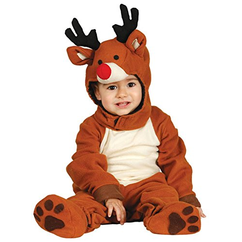 Baby Toddler Reindeer Rudolph Christmas Nativity Fancy Dress Costume 12-24 mnth