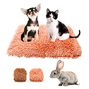 2 Packs Pet Small Dog and Cat Fluffy Fur Blanket Sleep Mat, Soft Pet Mat Fluffy Fur Pet Blanket, Reversible Double Layer Washable, Suitable for Small Dog Bed, Couch, Sofa, Car (Style-1)