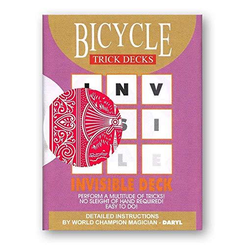 Invisible Deck – Das unsichtbare Kartenspiel - Original Bicycle (mit Anleitung und Video)