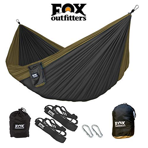 Fox Outfitters Neolite Double Camping Hammock - Lightweight Portable...