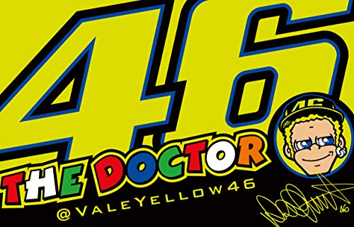 VR46 'Flagge Valentino Rossi Windschild