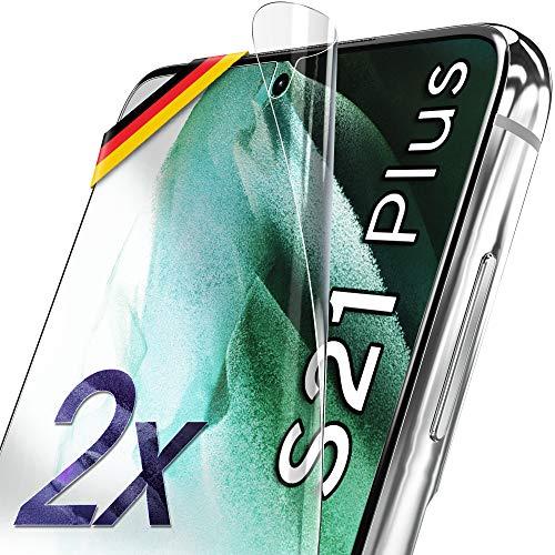 UTECTION 2X Schutzfolie für Samsung Galaxy S21+ 5G - Fingerabdruck kompatibel - Premium Folie KEIN Glas - Hüllenfreundlich - Anti Kratzer Displayschutzfolie Ultra Clear - Schutz Displayfolie