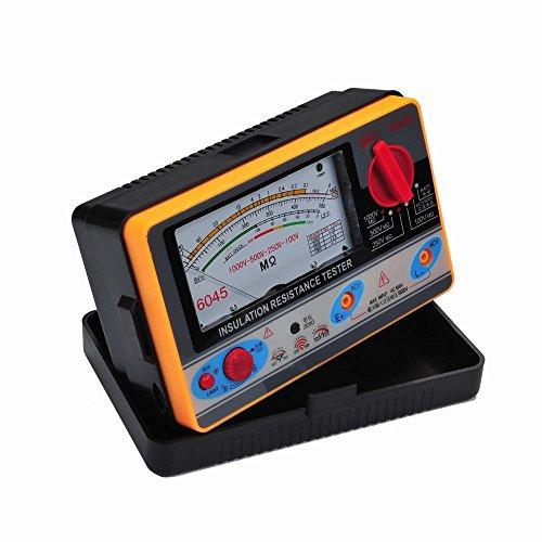 ELIKE 6045 Megohmmeter,2000 Megohms Resistance, 100-250-500-1000V Test Voltage/Insulation Resistance Tester