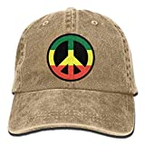 Desconocido Rastafari Reggae Peace Sign Jah Cowboy Dad Cap Gorra de béisbol Ajustable Sun Hat