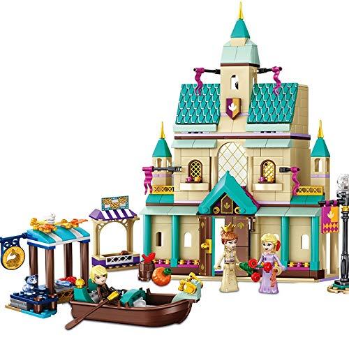 Bloques de construcción Disney Frozen Ii Arendelle Castle Village Princess Kit De Bloques De Construcción Ladrillos Modelo De Película Clásica Juguetes Para Niños Para Regalo De Niños