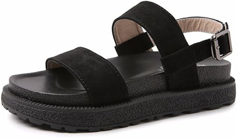 PRETTYHOMEL Women's Fashion Open Toe Ankle Strap Buckle Platform Sandals