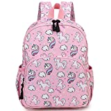 Unicorn Backpack for Girls,RAVUO Cute Toddler Backpack Lightweight Kids Preschool Backpack with Chest Strap