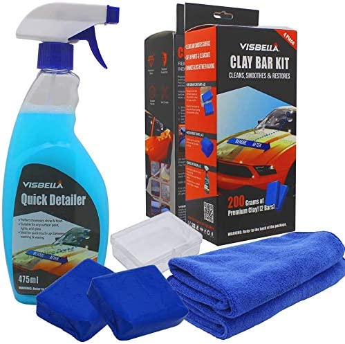 Max 68% OFF Visbella Clay Bars Auto Manufacturer regenerated product Detailing Kit Polishing Lubricant and