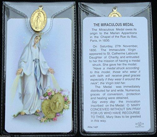 Rosario de tarjeta de con medalla~and Medal
