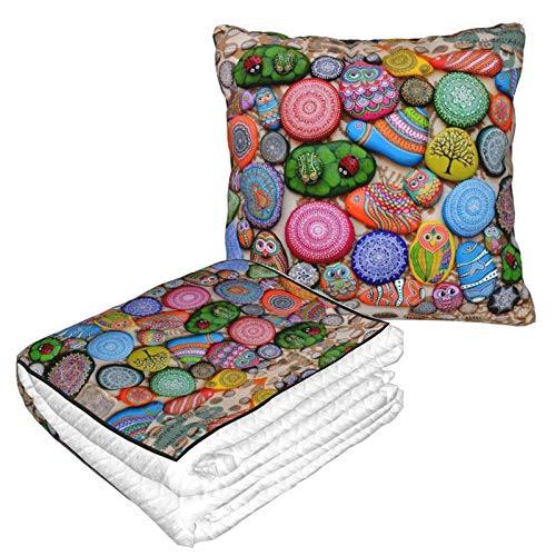 Manta suave 2 en 1 de forro polar, colorida manta de invierno, sofá cama, sofá, oficina, para hombres y niños