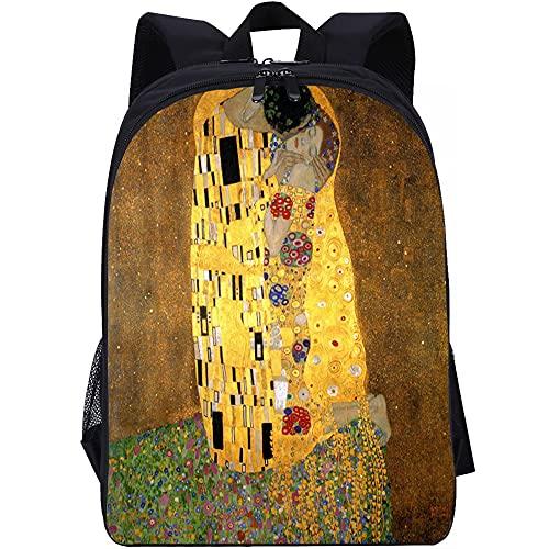 YSSMGS mochilaEl beso de KlimtMochila para adolescentes Mochila para niños Mochila informal para niñas Mochila de viaje Mochila para damas Mochila para niños Poliéster40x28x15cm