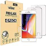 VIBE [4 Stück] Panzerglas Schutzfolie für iPhone 8 Plus, iPhone 7 Plus [5,5 Zoll Folie], Japanische 9H Festigkeit, Anti-Kratzer, Anti-Öl, Anti-Bläschen Panzerglasfolie