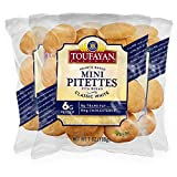 Toufayan Bakery, White Mini Pitettes| Bite Size Pita Bread| Great for Sliders, Appetizers, Mini...