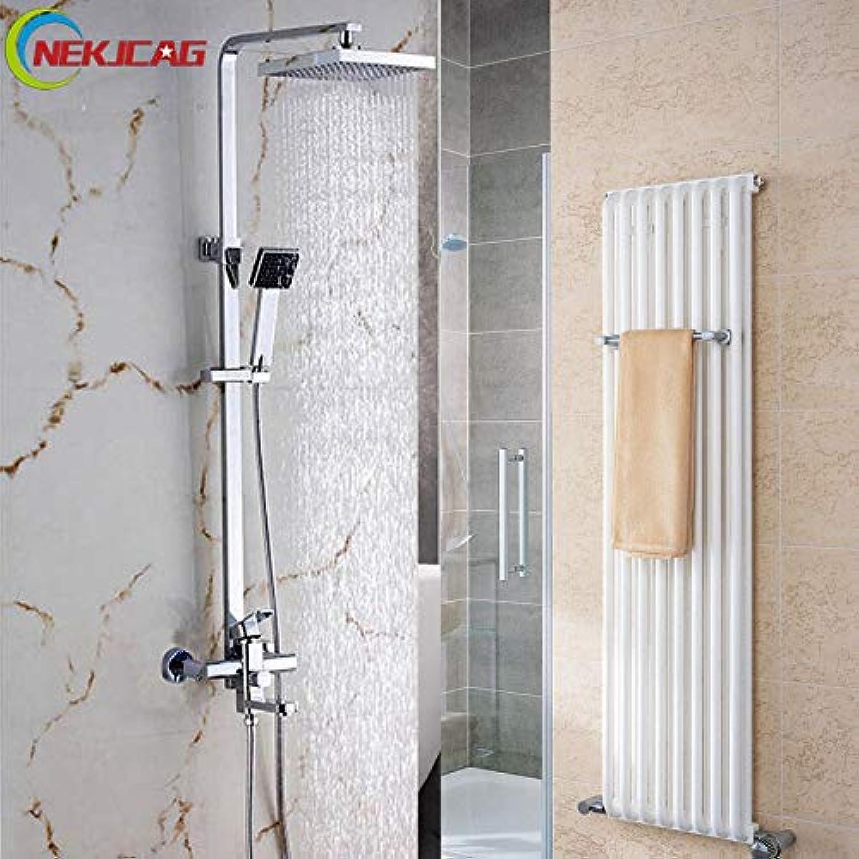 Moderner Stil 8 Zoll Wandmontage Badezimmer Dusche Set Mischbatterie Wasserhahn + Messing Top Dusche + Griff Dusche, Russische Fderation