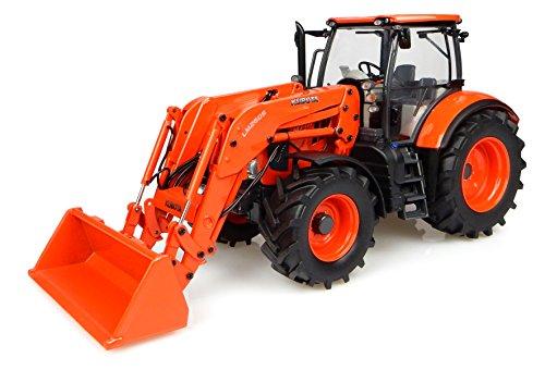 Universal Hobbies Tracteur Kubota M7 171 avec Chargeur Version Etats Unis Echelle 1/32 Orange