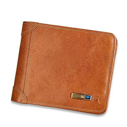Mens Portemonnees Mannen Zakelijke Portemonnee, Multi-Card Positie Lederen portemonnee Smart Anti-Verloren Anti-Diefstal Clutch Tas Coin Purse Card Pakket