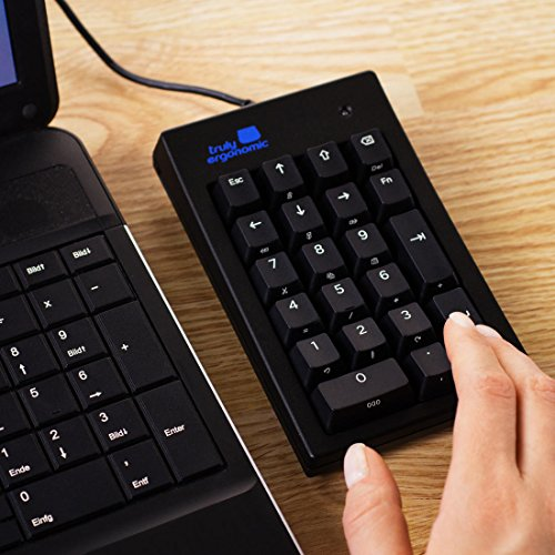 Truly Ergonomic - Best Mechanical Numeric Keypad for Data Entry - Big Large TAB - Cherry MX Mechanical Switches - USB - Numpad - Number Pad - Windows Linux - PC