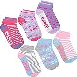Girls Novelty Cotton Rich Crew Socks (6 & 12 Pair Multipack) Ankle Trainer Liner 2 Pk 6-8.5