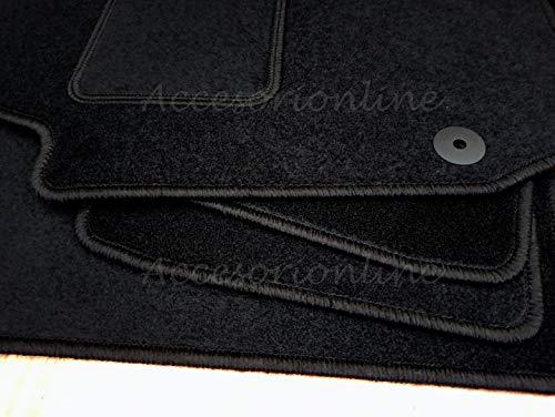 Accesorionline Alfombrillas para Mazda 3 Todos los Modelos A Medida con talonera Alfombras esterillas (Mazda 3 (2009-2013 2ANCLAJES 1XCONDUCTOR 1XCOPILOTO))