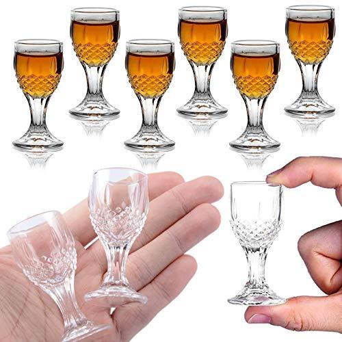 REATR 6PACK 12ml/0,5Unzen Schnapsgläser Baijiu Glas Größe Schnaps Schnapsglas Set Sake Glas Tasse Chinesisches Weinglas Mit Stiel Lustige Glaswaren Shotgläser Gläser BaiJiu Glass Shot Glass