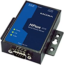 MOXA NPort 5110 ---WITHOUT--- Adapter - 1 Port Serial Device Server, 10/100 Ethernet, RS232, DB9 Male, WITHOUT Power Adapter