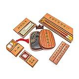 Suministros de oficina Chino caligrafía Cepillos Set de regalo, Caja de regalo, Amantes de caligrafía china Pincel de escritura/pintura