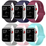 ATUP Compatible with for Apple Watch Band 38/40/42/44mm Unisex, Silicone Replacement Bands Strap for iWatch Series 4/3/2/1
